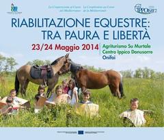'Riabilitazione equestre: tra paura e libertà'. Venerdì 23 e sabato 24 a Onifai